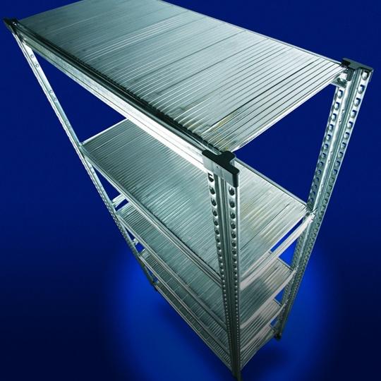 Rayonnages en métal galvanisé